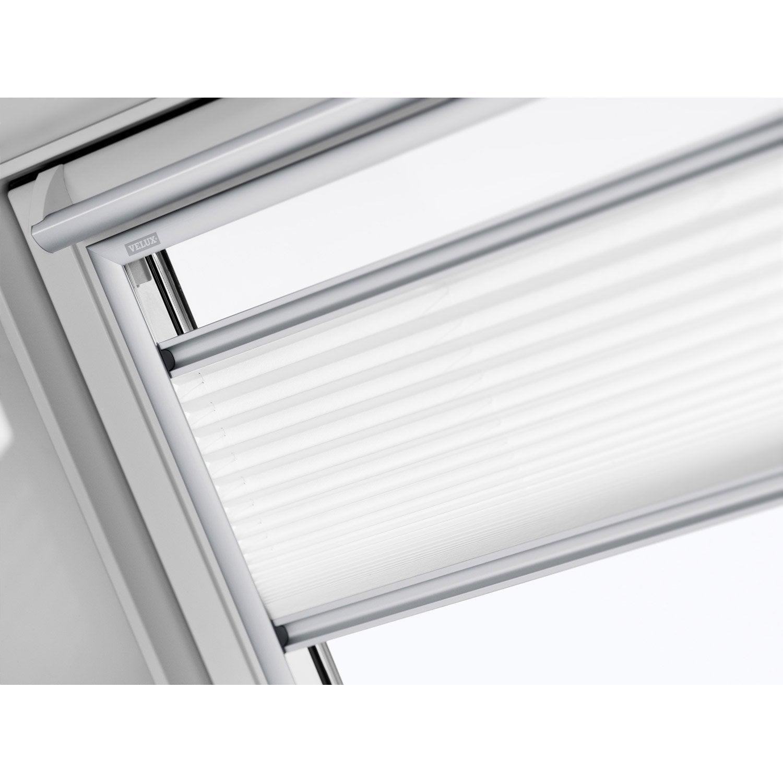 store fen tre de toit pliss blanc velux fhl m08 leroy merlin. Black Bedroom Furniture Sets. Home Design Ideas