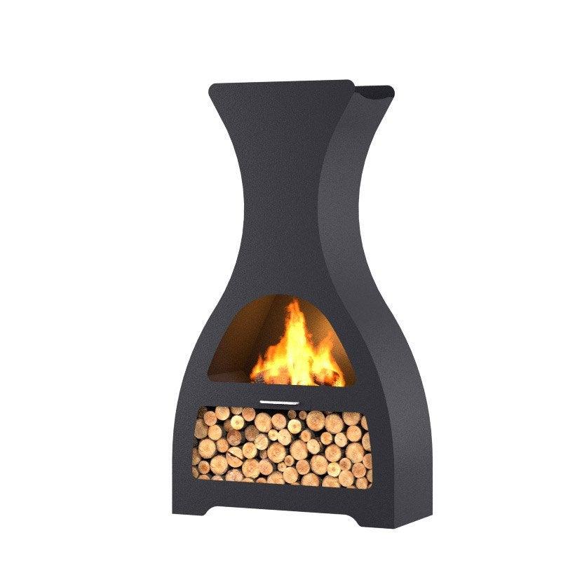 brasero au charbon de bois barbecook kuro lu 100 cm h 1 80 m feu de terrasse b leroy merlin. Black Bedroom Furniture Sets. Home Design Ideas