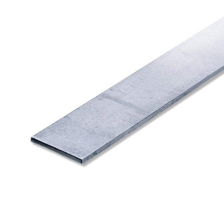 Plat lisse en acier brut l1m x x leroy for Table exterieur 1m