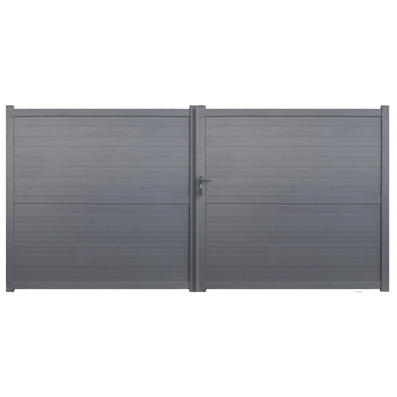 portail battant aluminium detroit gris anthracite x cm leroy merlin. Black Bedroom Furniture Sets. Home Design Ideas