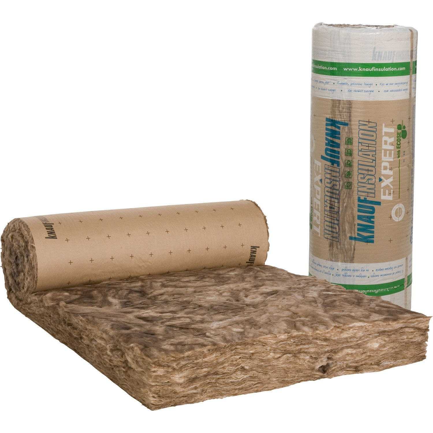 Laine de verre kraft knauf insulation 5 4 x 1 2 m ep 200 mm 040 r 5 ler - Isolation mur interieur leroy merlin ...