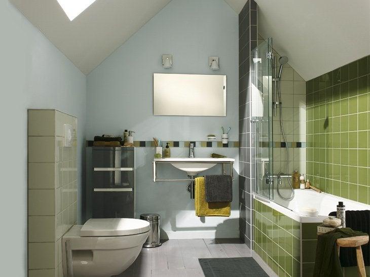 Votre salle de bains sous les combles leroy merlin - Exemple de salle de bains sous comble ...