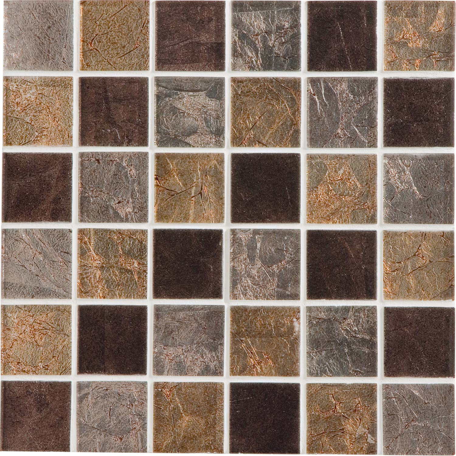 Mosa que glass select mix artens marron 5x5 cm leroy merlin - Mosaique carrelage leroy merlin ...