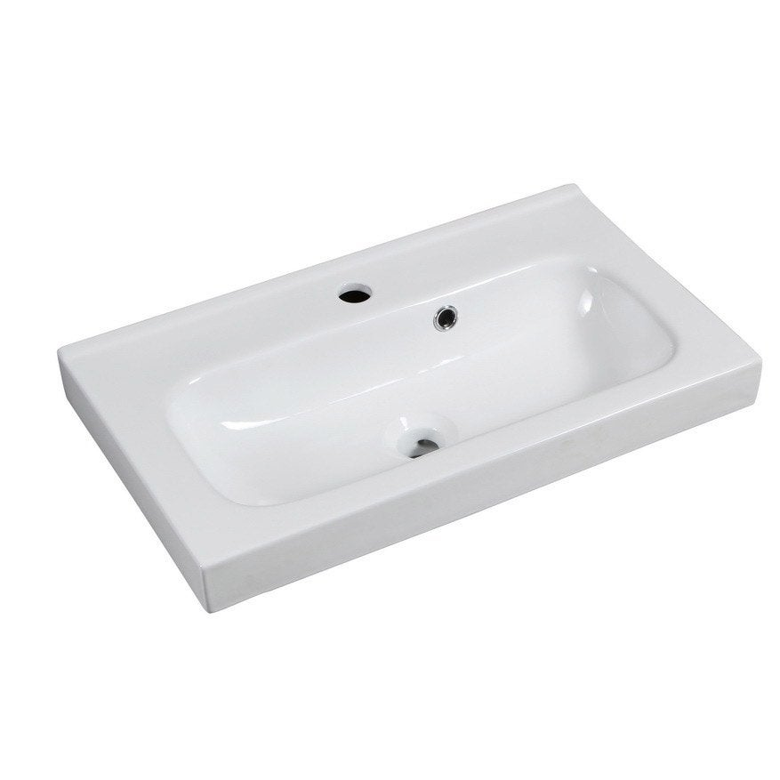 Plan vasque simple remix c ramique 61 0 cm leroy merlin - Leroy merlin vasque salle de bain ...