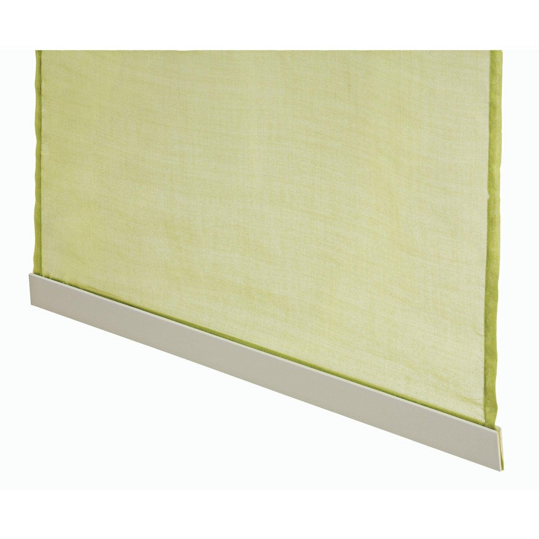 barre de lestage pour panneau japonais aluminium blanc cm leroy merlin. Black Bedroom Furniture Sets. Home Design Ideas