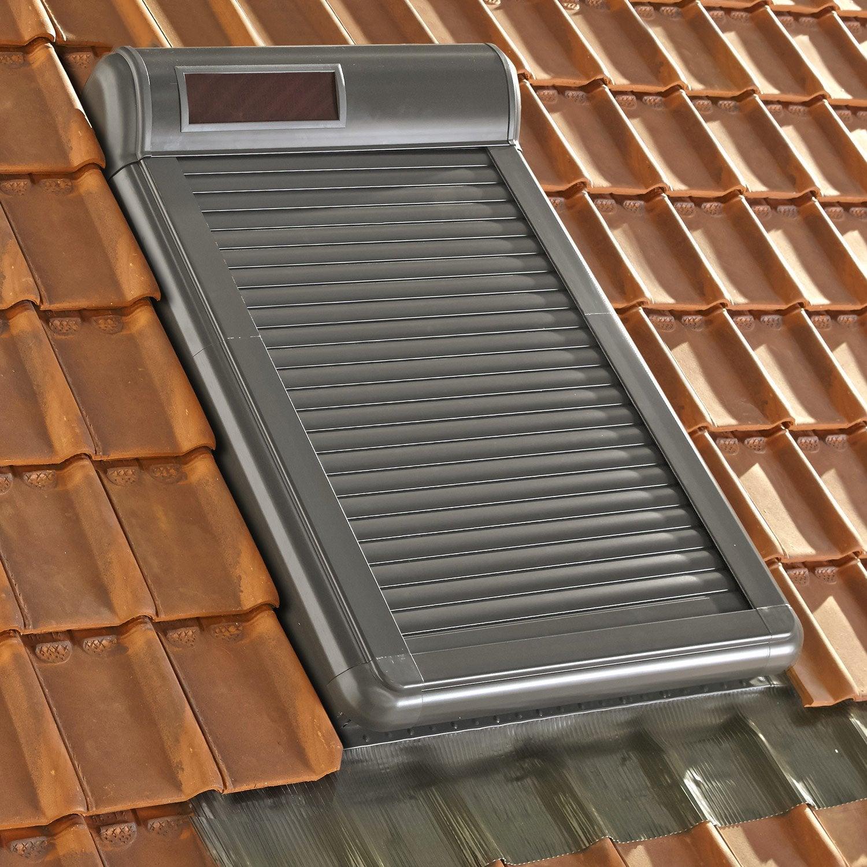 Volet fen tre de toit roulant nergie solaire artens arz - Guirnalda solar leroy merlin ...