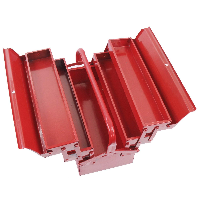 Bo te outils en m tal 5 compartiments 43 cm leroy merlin - Caisse en bois leroy merlin ...