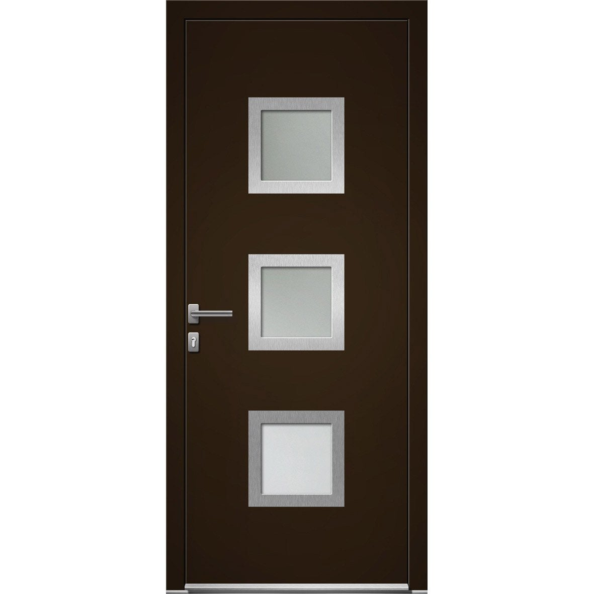 porte d 39 entr e sur mesure en aluminium seatle artens leroy merlin. Black Bedroom Furniture Sets. Home Design Ideas