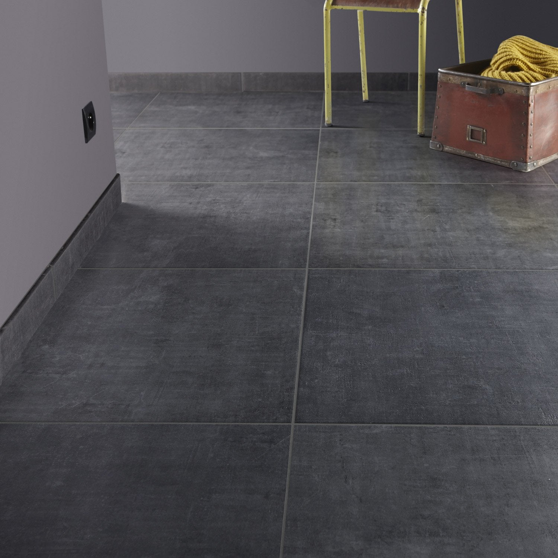 Carrelage sol et mur noir fusain effet b ton area x for Pose carrelage mur