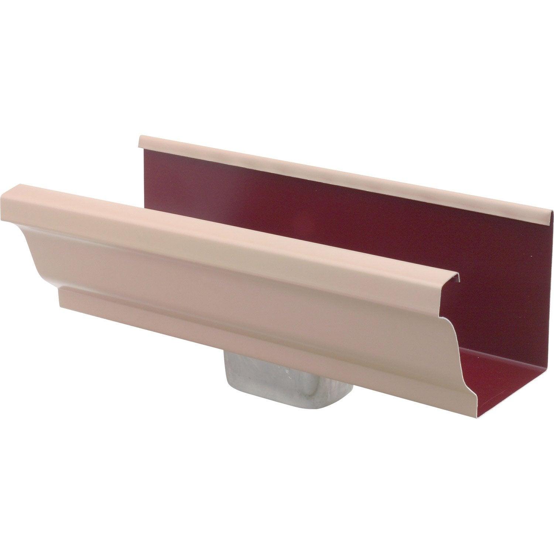 naissance en aluminium 60x80 pour goutti re carr e d velopp 25 beige leroy merlin. Black Bedroom Furniture Sets. Home Design Ideas