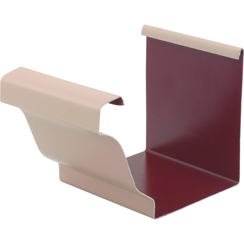 jonction en aluminium pour goutti re carr e d velopp 25 beige leroy merlin. Black Bedroom Furniture Sets. Home Design Ideas