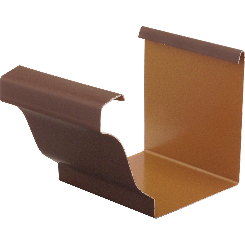 jonction en aluminium pour goutti re carr e d velopp 25 marron leroy merlin. Black Bedroom Furniture Sets. Home Design Ideas
