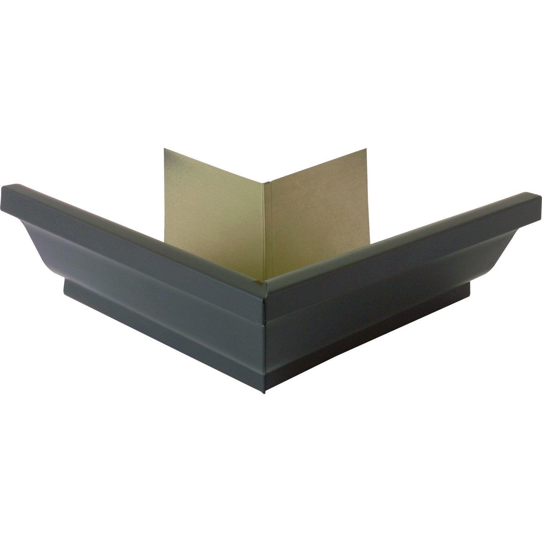 angle ext rieur en aluminium pour goutti re carr e d velopp 25 ardoise leroy merlin. Black Bedroom Furniture Sets. Home Design Ideas