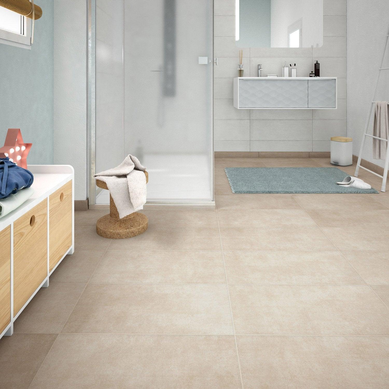 carrelage sol et mur sable effet b ton emotion x cm leroy merlin. Black Bedroom Furniture Sets. Home Design Ideas