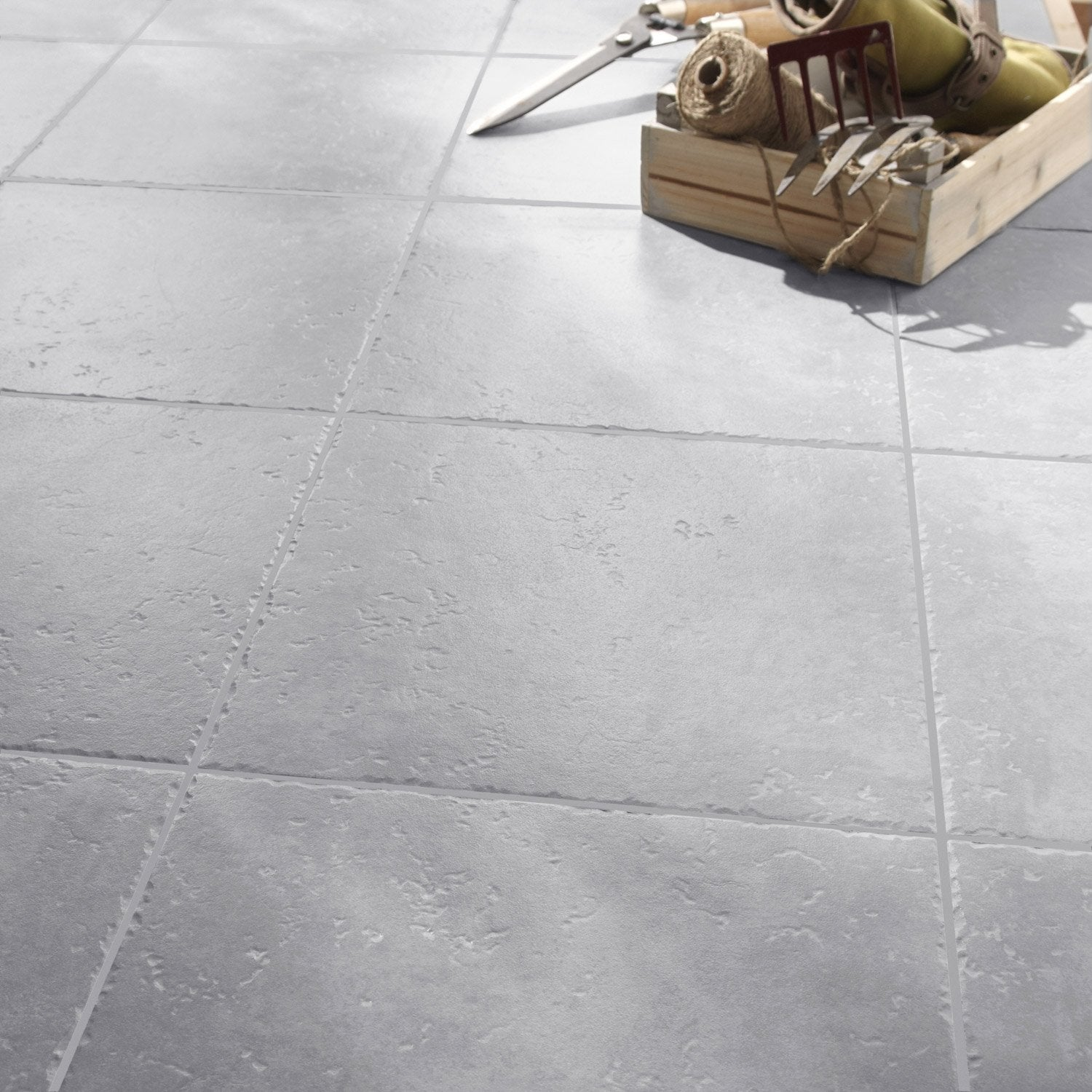 Carrelage sol gris perle effet pierre michigan x for Prix carrelage sol