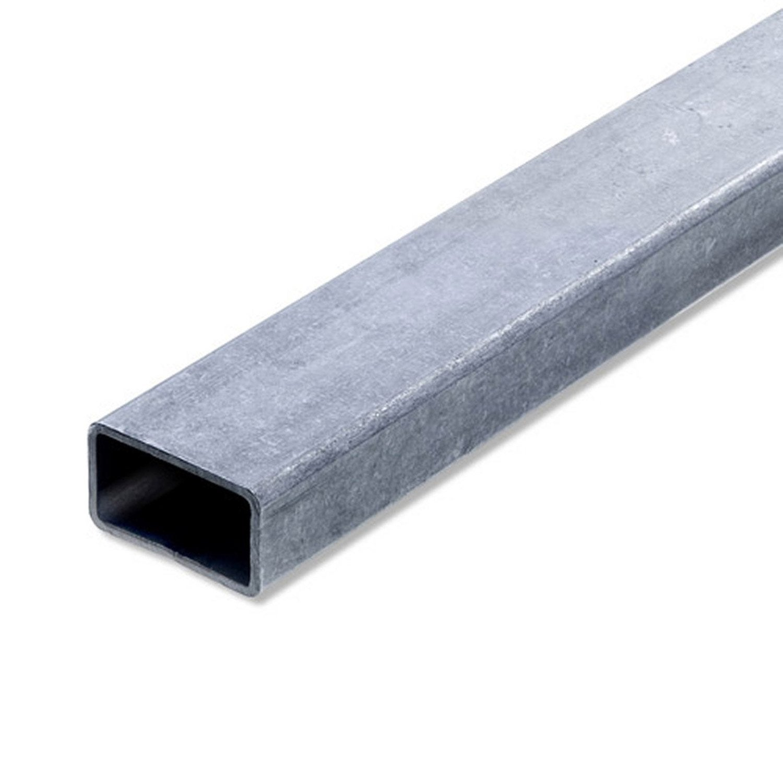 Tube rectangulaire acier brut l 2 m x l 4 cm x h 2 7 cm for Wohnzimmer 4 x 10