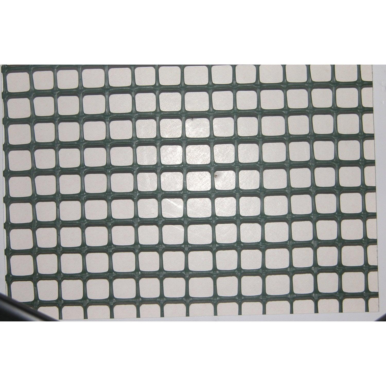 Grillage extrusion vert h 1 x l 3 m maille de x for Grillage hauteur 2m leroy merlin