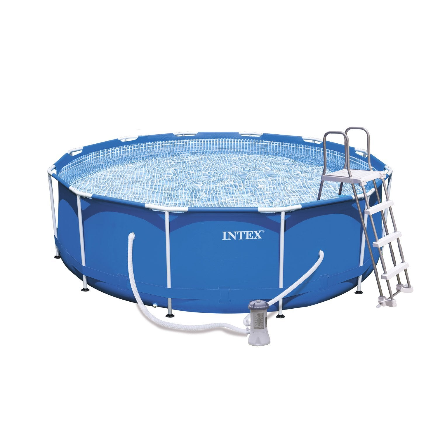 Piscine hors sol autoportante tubulaire m tal frame intex for Piscine 3 boudins intex
