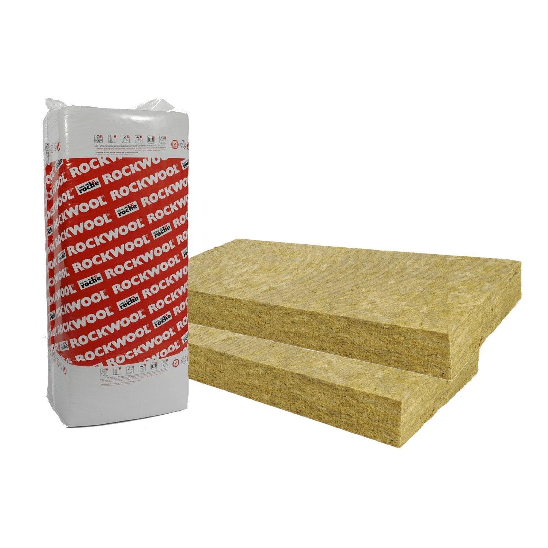 8 panneaux en laine de roche rockfa ade rockwool r 2 l - Coefficient r laine de roche ...