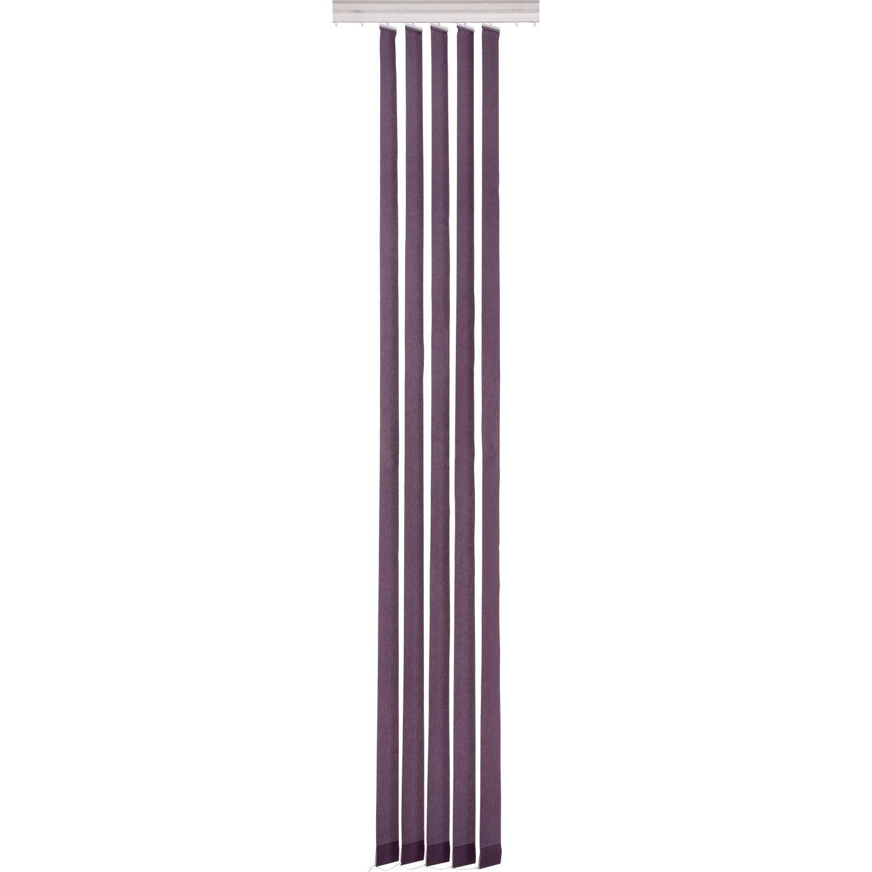 5 lamelles pour store californien uni inspire violet tulipe n 2 cm. Black Bedroom Furniture Sets. Home Design Ideas