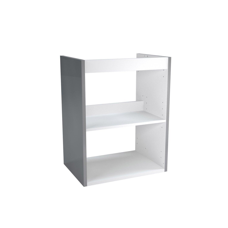 caisson meuble sous vasque x x cm gris. Black Bedroom Furniture Sets. Home Design Ideas
