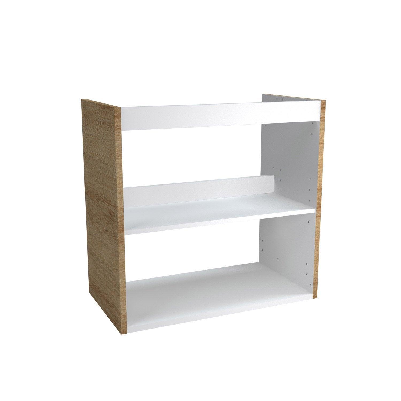 caisson meuble sous vasque sensea remix d cor ch ne naturel leroy merlin. Black Bedroom Furniture Sets. Home Design Ideas