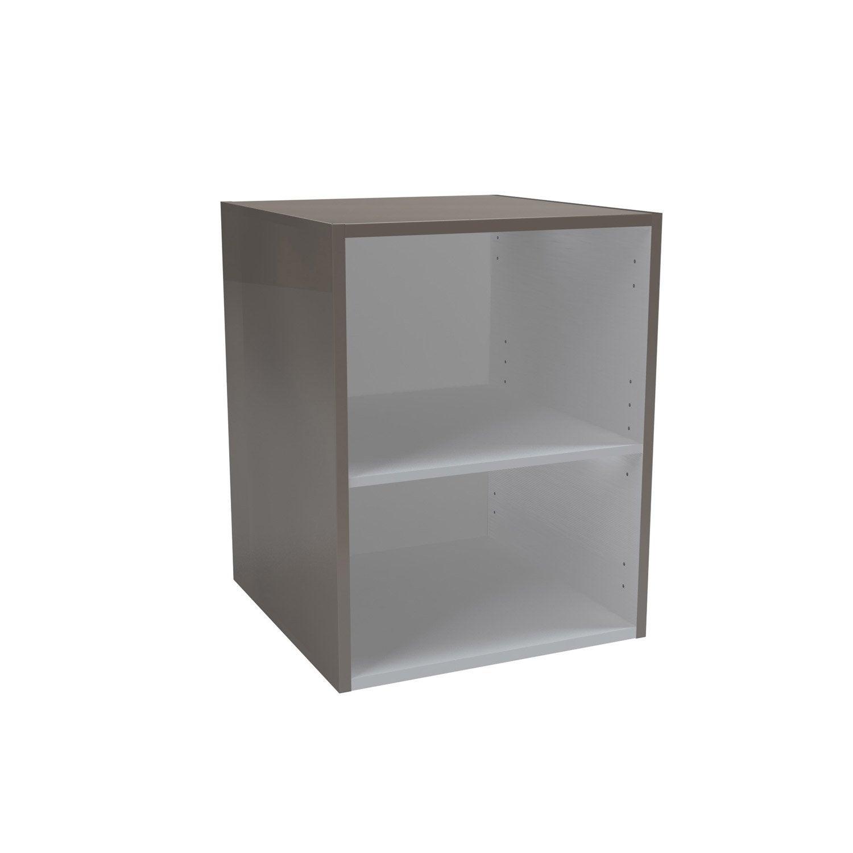 caisson meuble bas sensea remix brun taupe n 3 leroy merlin. Black Bedroom Furniture Sets. Home Design Ideas