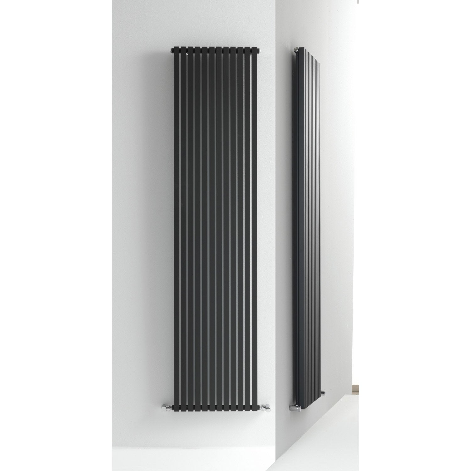 radiateur chauffage central quad anthracite cm 1390 w leroy merlin. Black Bedroom Furniture Sets. Home Design Ideas