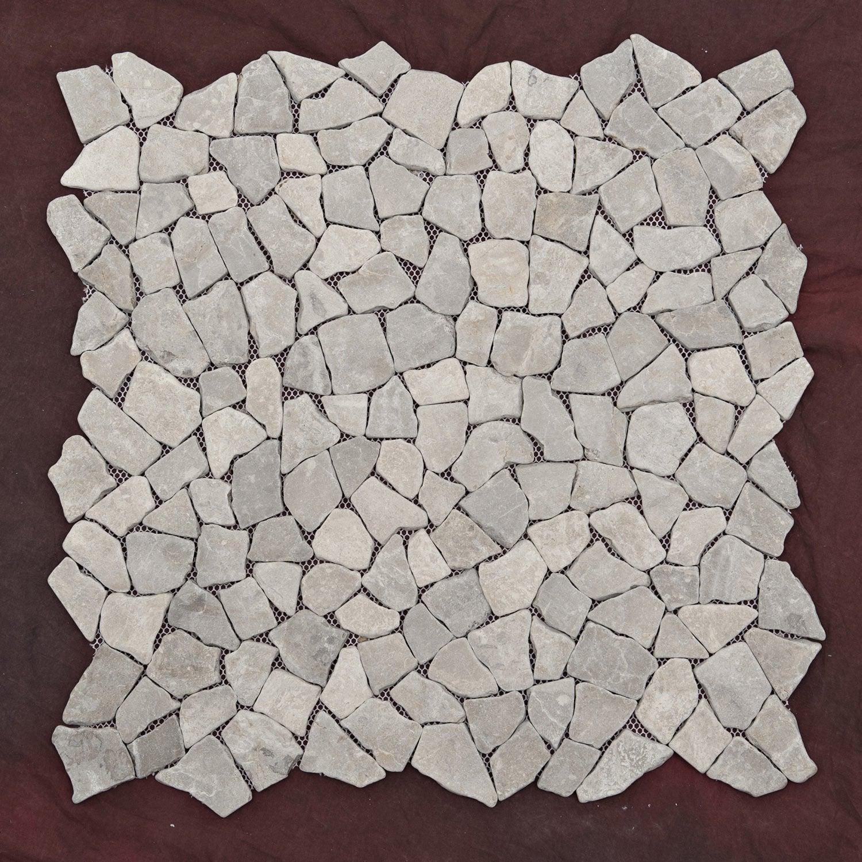 Mosa que puzzle gris leroy merlin for Mosaique piscine leroy merlin