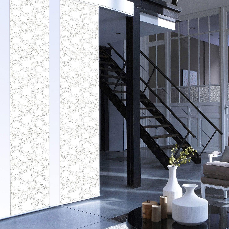 panneau japonais d vor fleurs blanc 250 x 50 cm leroy. Black Bedroom Furniture Sets. Home Design Ideas