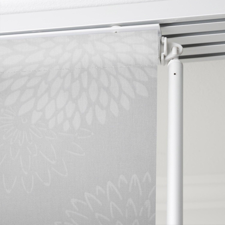 panneau japonais fleurs artifices gris x cm. Black Bedroom Furniture Sets. Home Design Ideas