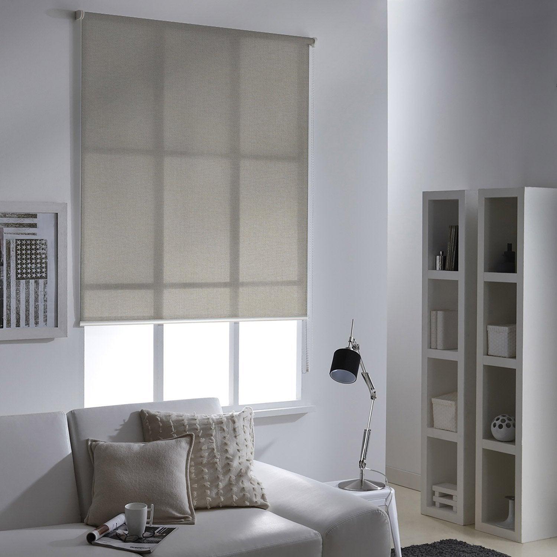 store enrouleur tamisant screen taupe 155x190 cm leroy merlin. Black Bedroom Furniture Sets. Home Design Ideas
