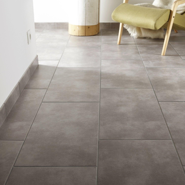 Carrelage sol et mur gris clair effet b ton soho x cm leroy m - Carrelage adhesif cuisine leroy merlin ...