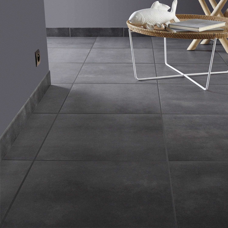 Carrelage sol et mur gris fum effet b ton soho x l for Carrelage gris paillete