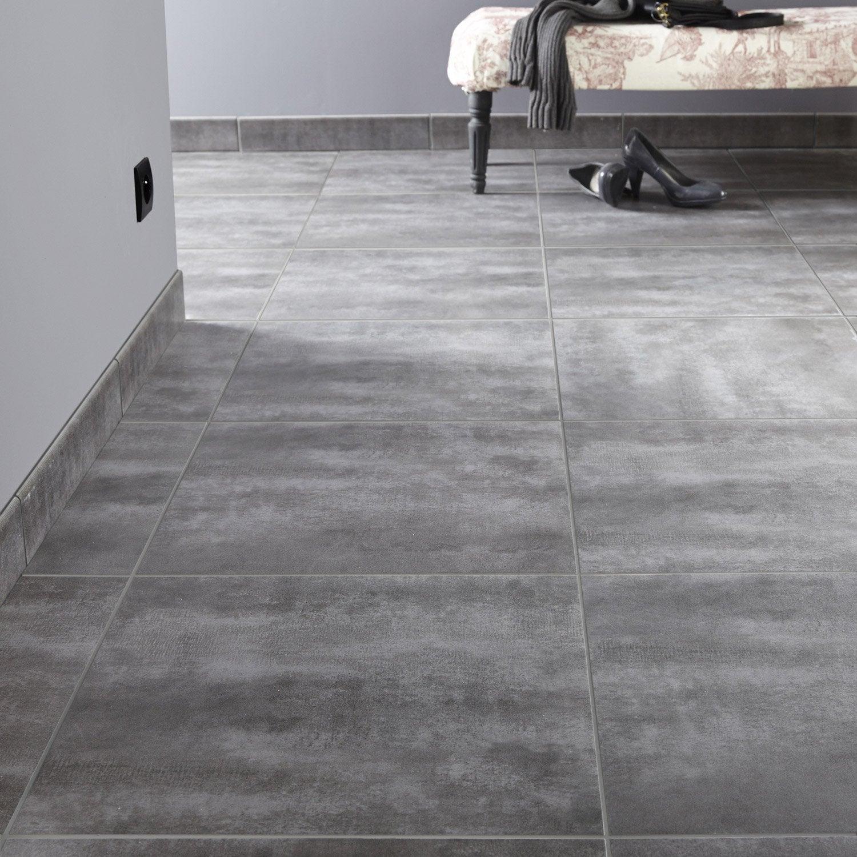 Carrelage sol et mur gris zingu 1 effet b ton camden for Carrelage gris beton
