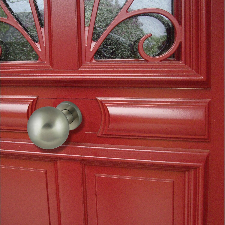 Bouton de porte rond acier inoxydable bross leroy merlin for Poignee de porte exterieure maison