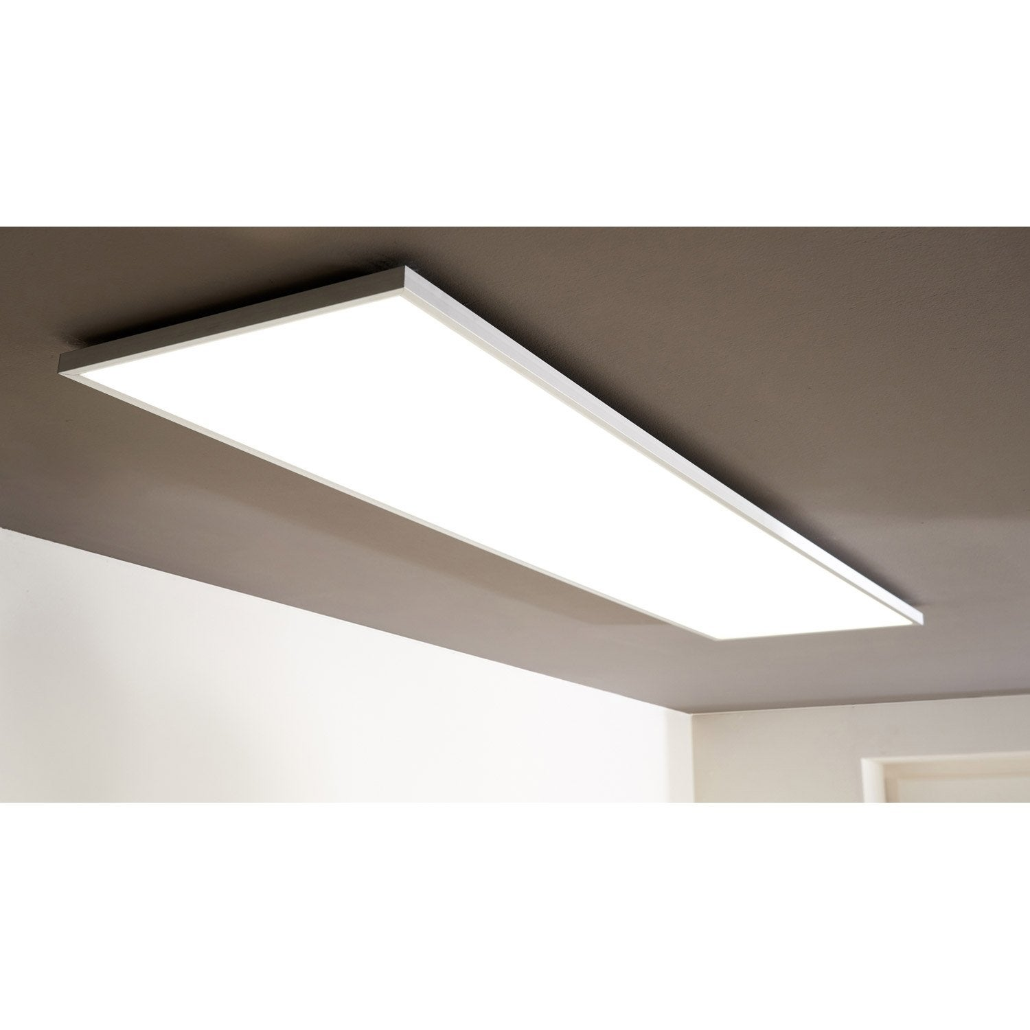 panneau led int gr e gdansk inspire rectangle 120 x 30 cm