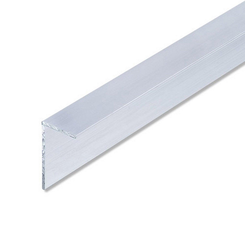 Corni re in gale aluminium brut l 2 5 m x l cm x h 1 - Corniere alu leroy merlin ...