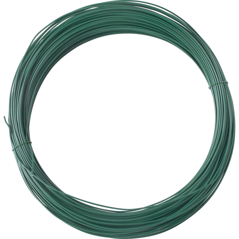 Fil de tension vert m x p cm leroy merlin - Fil de tension grillage ...