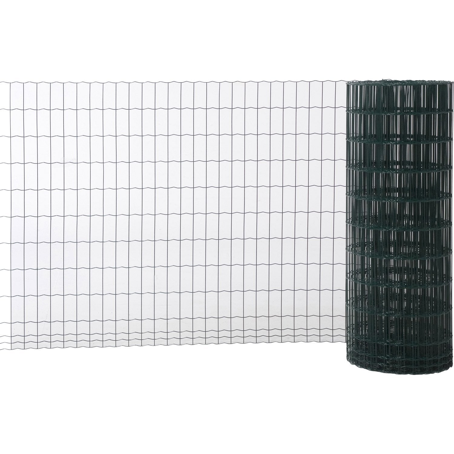 Grillage soud vert h 1 x m maille de x for Grillage jardin leroy merlin