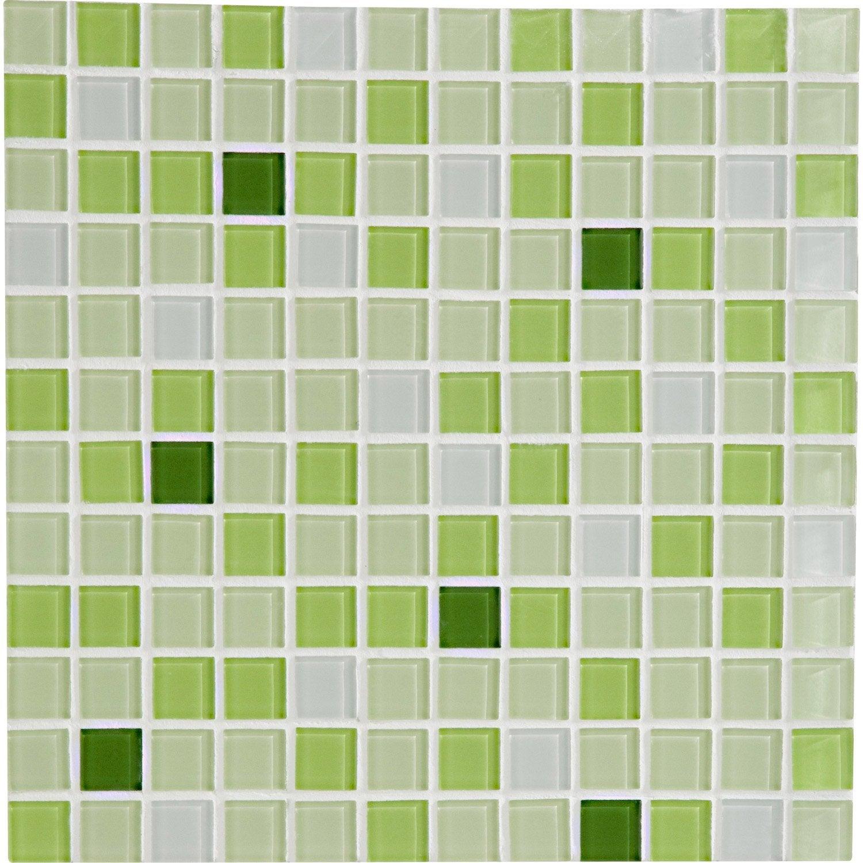 Mosa que mur shaker mix vert leroy merlin - Plaque carrelage salle de bain ...