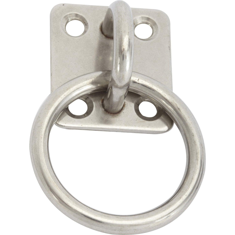 Platine avec anneau en inox diam 5mm leroy merlin - Carrelage inox leroy merlin ...