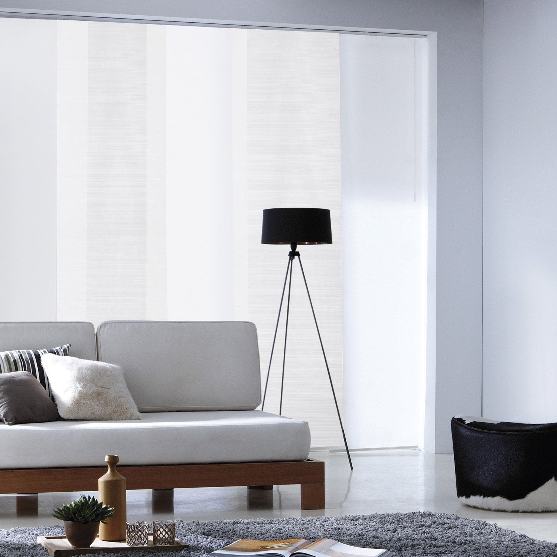 panneau japonais loft blanc 250 x 50 cm leroy merlin. Black Bedroom Furniture Sets. Home Design Ideas