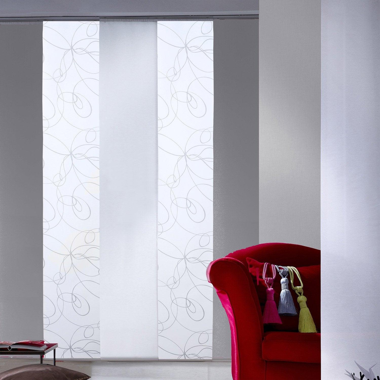 Panneau japonais zig zag blanc x cm leroy for Miroir japonais
