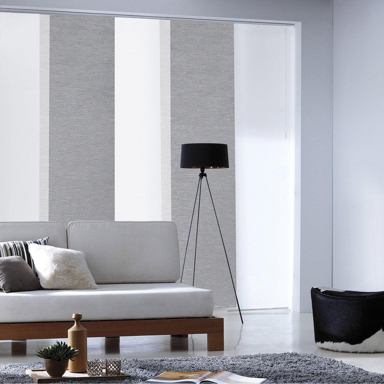 panneau japonais loft gris 250 x 50 cm leroy merlin. Black Bedroom Furniture Sets. Home Design Ideas