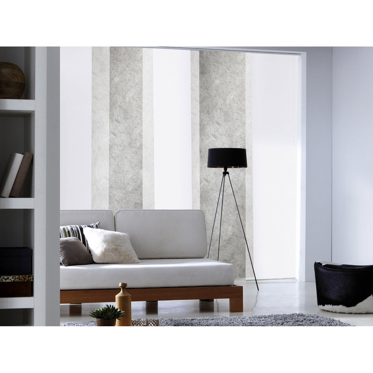panneau japonais frost blanc x cm leroy merlin. Black Bedroom Furniture Sets. Home Design Ideas