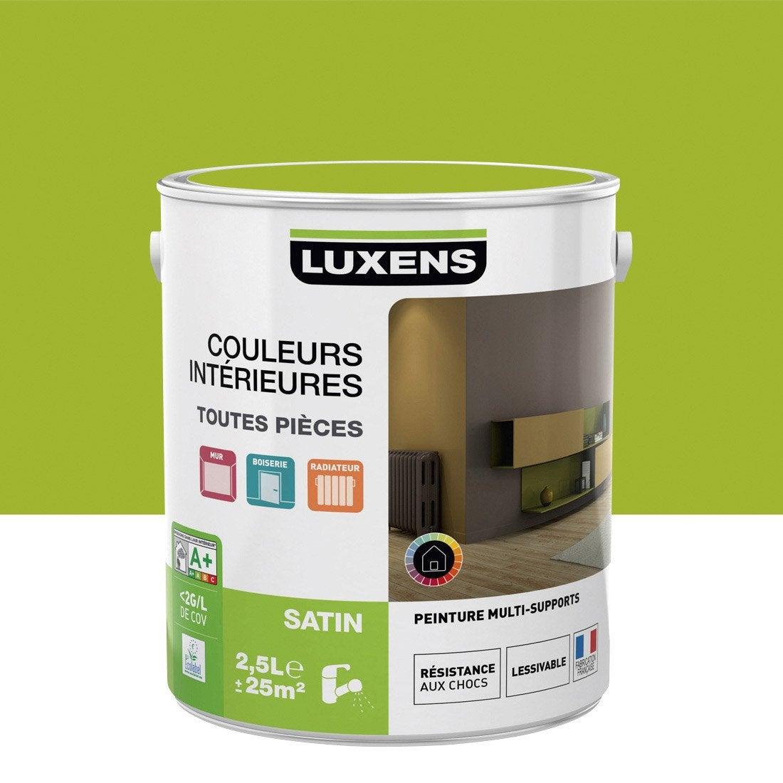 peinture vert pistache 4 satin luxens couleurs intérieures satin ... - Comment Faire Du Vert Anis En Peinture