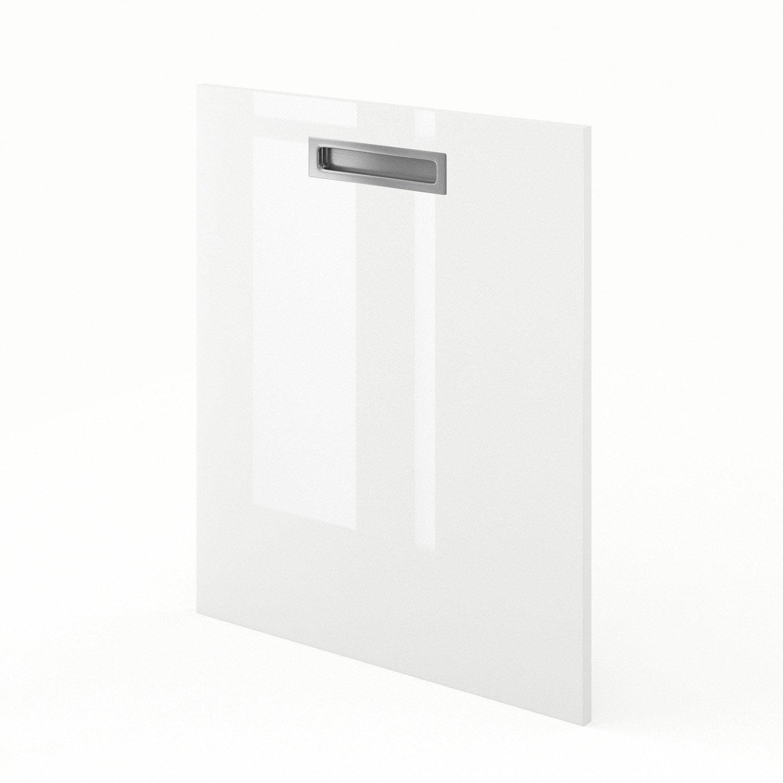 Porte de cuisine blanc play x cm leroy merlin for Porte 60 cm cuisine