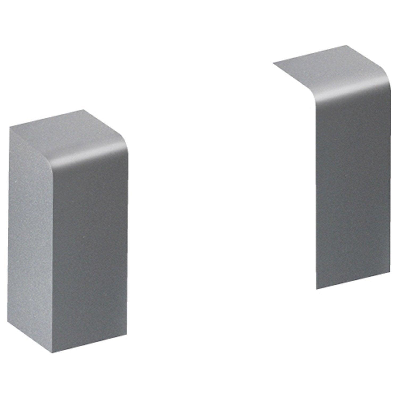 Lot de 2 embouts jonctions pour plinthe en pvc aluminium leroy merlin - Leroy merlin plinthe ...