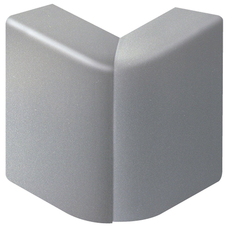 Angle ext rieur aluminium pour plinthe h 10 x p 5 5 cm - Cache angle margelle piscine bois ...